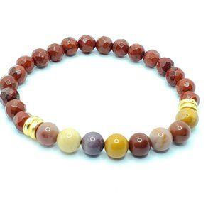 Jewelry - Grounding Natural Red Jasper beaded bracelet